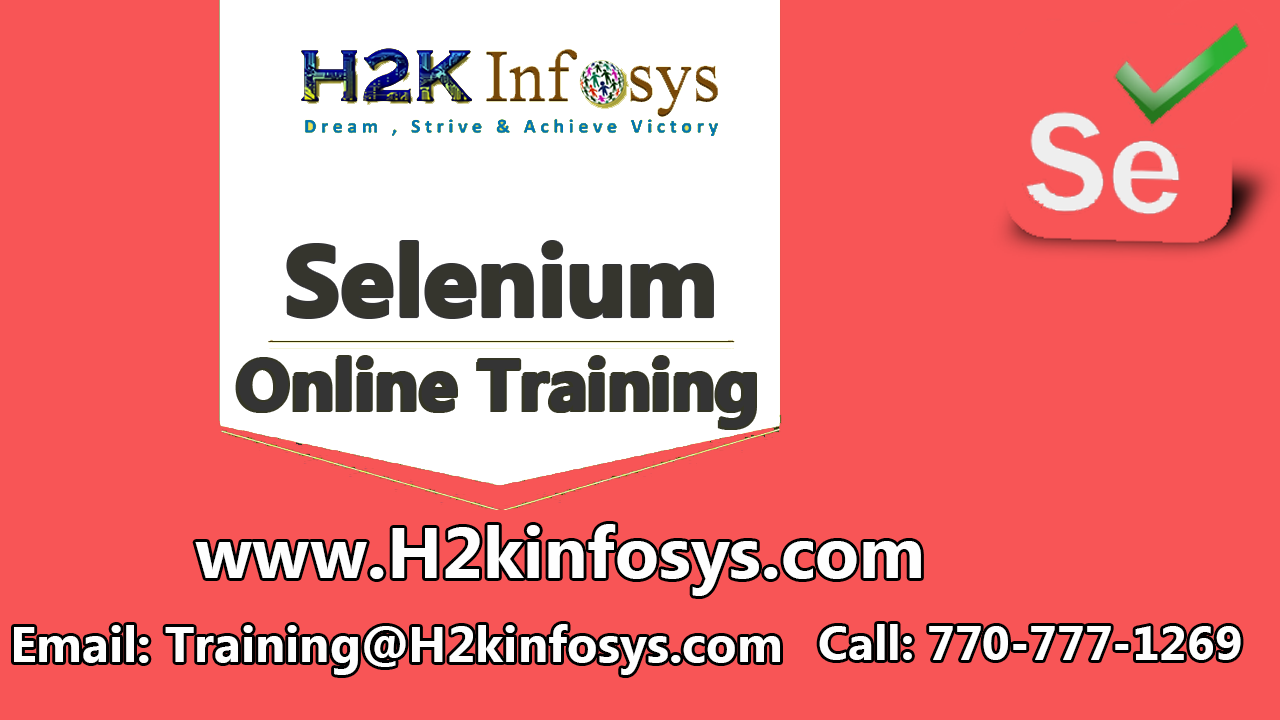 Selenium Online Training with Job Assistance